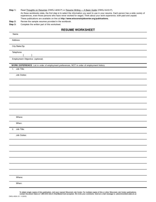 Blank Worksheet Templates For Teachers