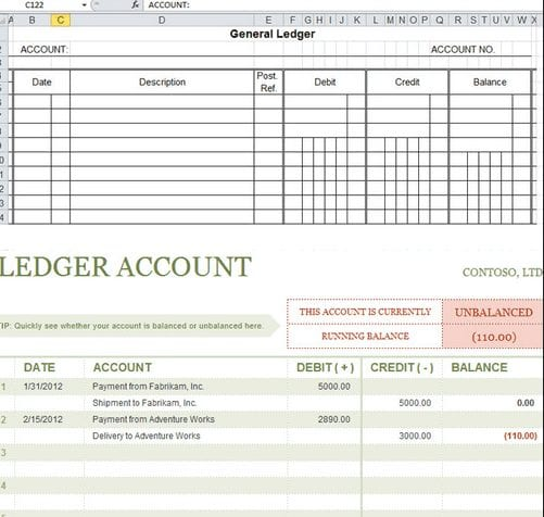 Bookkeeping Excel Template 4