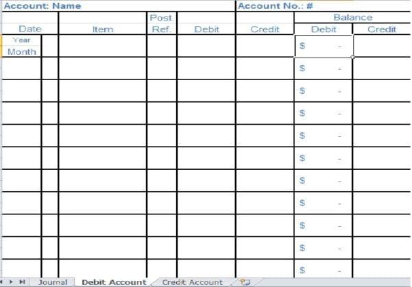 Bookkeeping Spreadsheet Template 2