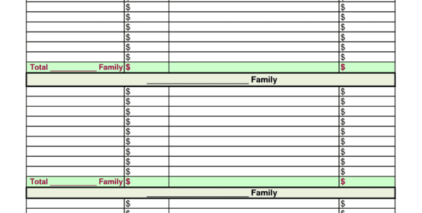 Budget Excel Spreadsheet