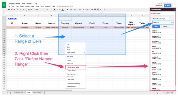 Example Of Spreadsheet Data