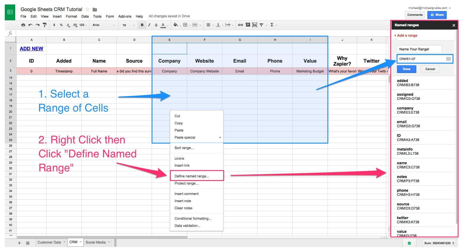 Example Of Spreadsheet Data
