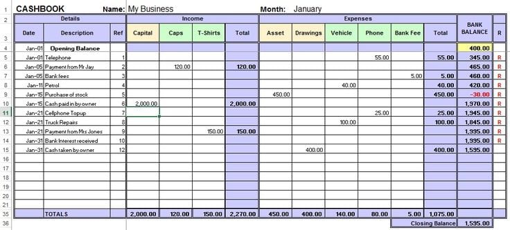 Small business spreadsheet templates free demirediffusion excel accounting template for small business 4 small business friedricerecipe Gallery