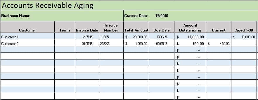 Excel Accounting Templates For Mac