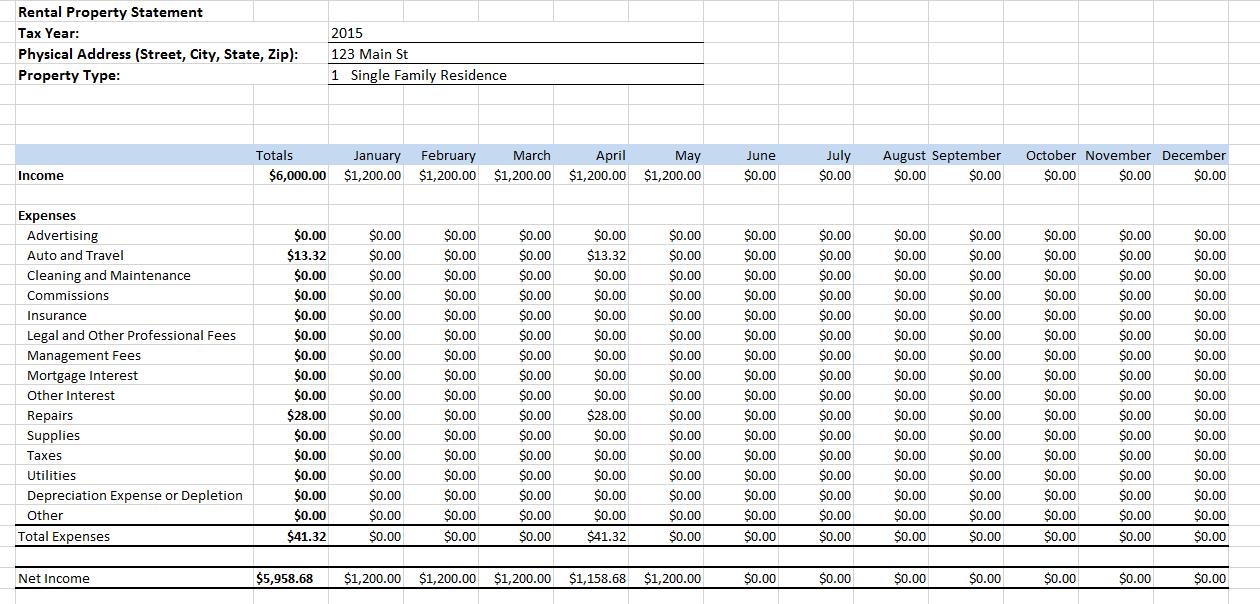 Excel Bookkeeping Spreadsheet Template