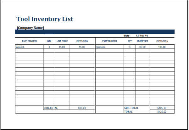 Excel Inventory Template With Formula