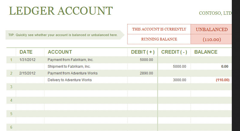 excel ledger template with debits and credits  u2014 excelxo com