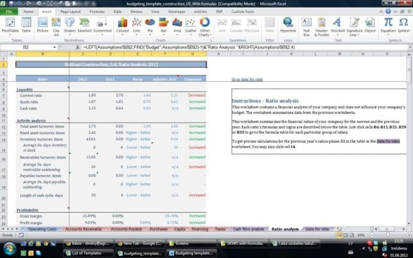 Excel Template For Small Business Bookkeeping 1