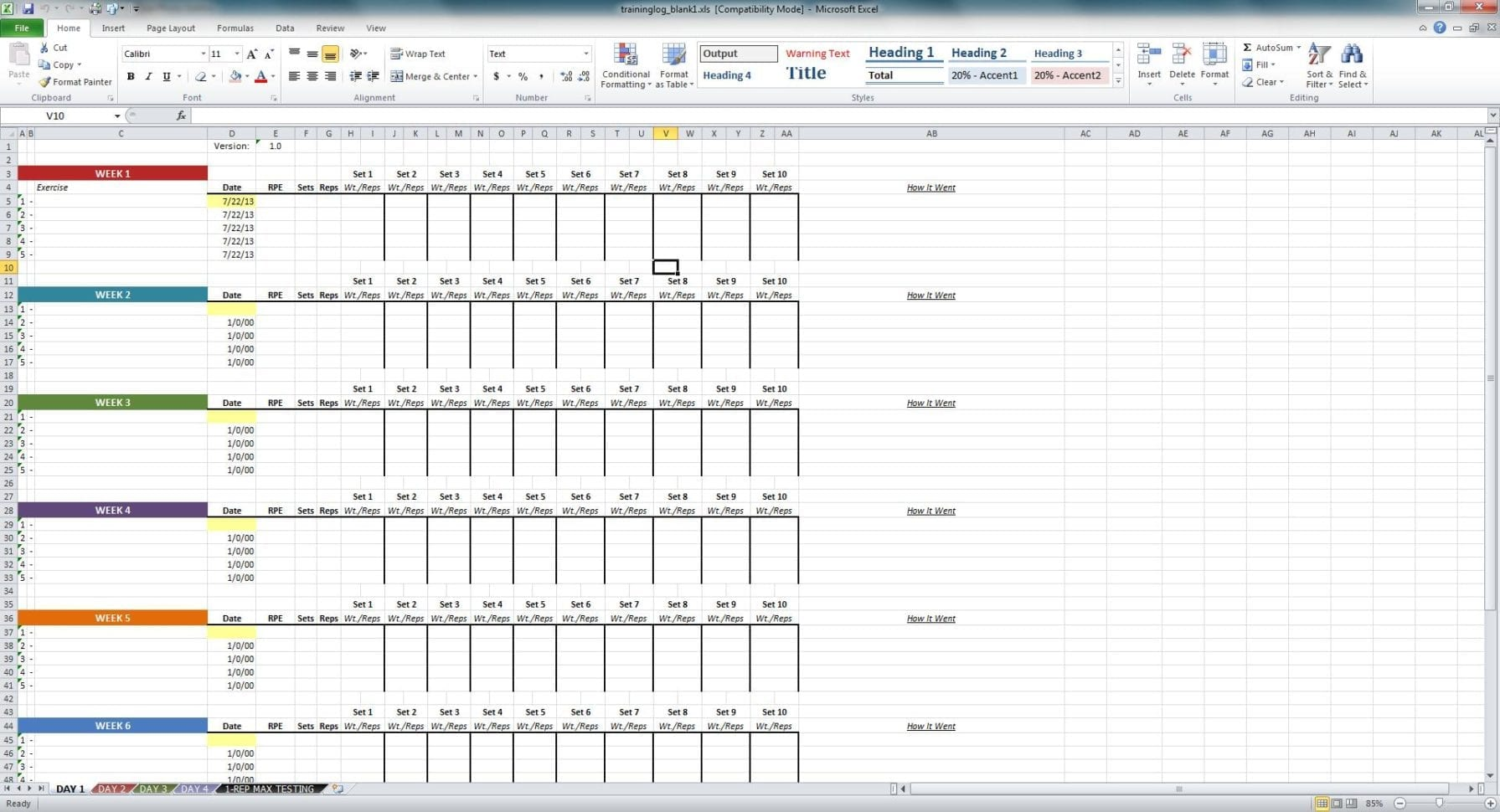 Excel Training Matrix Examples Spreadsheets