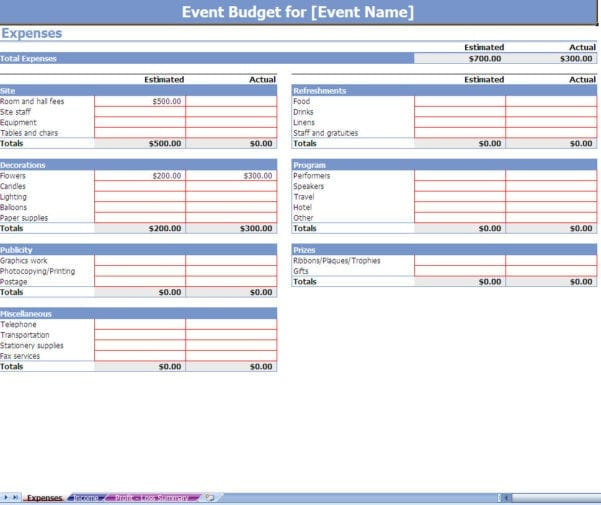 Expense Tracking Spreadsheet For Tax Purposes