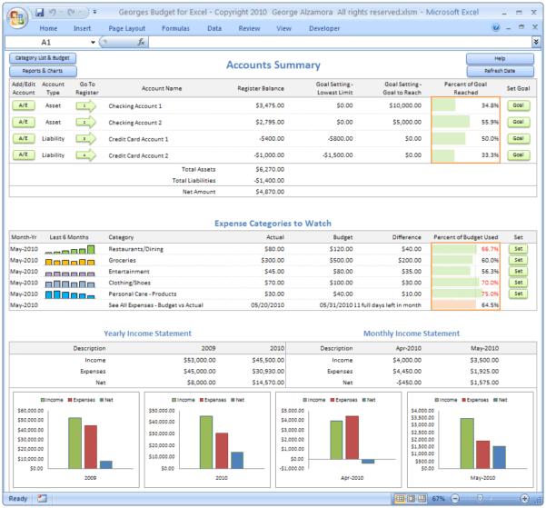 Finance Spreadsheet