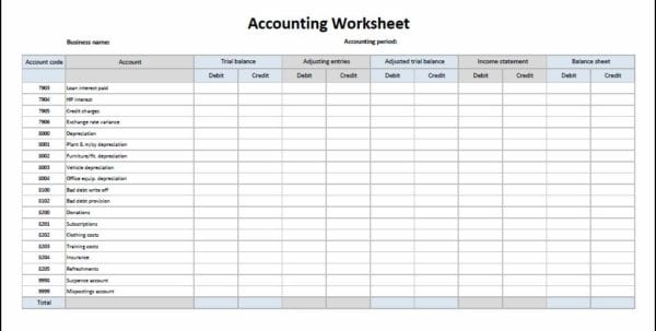 Free Bookkeeping Templates For Small Business