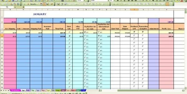Free Ebay Sales Tracking Spreadsheet