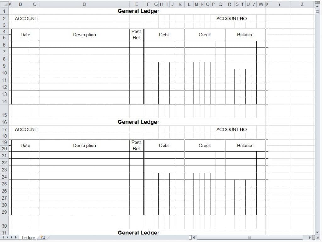 free excel accounting templates download 1 account