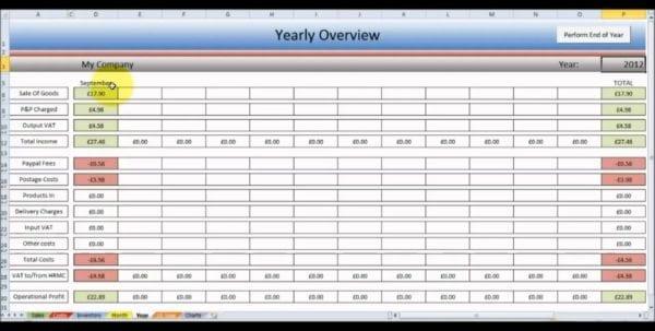 Free Excel Spreadsheet For Ebay
