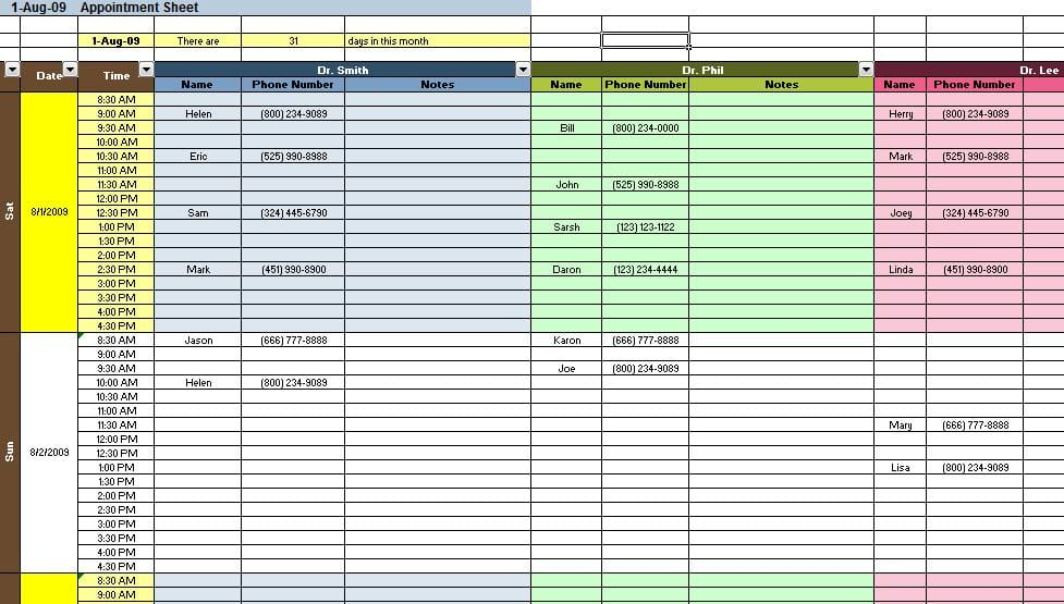 financial spreadsheets templates