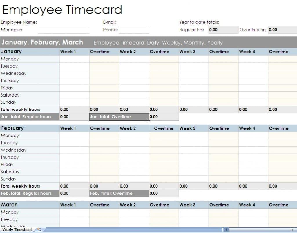 Time Spreadsheet Template — excelxo.com