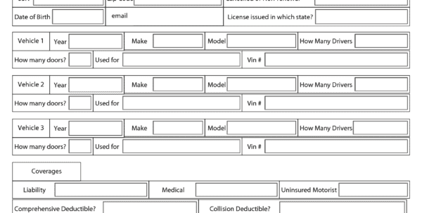 Free Order Form Template Word