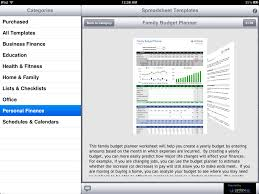 Free Spreadsheet Templates For Ipad