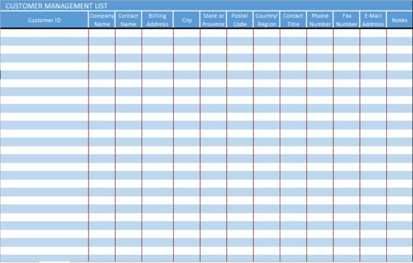 customer management excel template spreadsheet templates for business management spreadshee. Black Bedroom Furniture Sets. Home Design Ideas