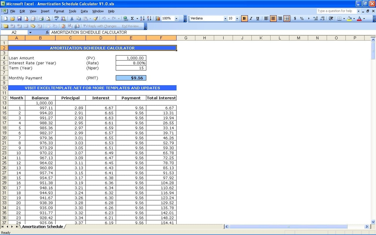 Mortgage Spreadsheet Template Spreadsheet Templates for ...