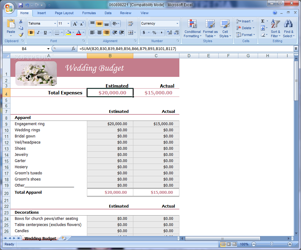 Household Budget Template Excel 1