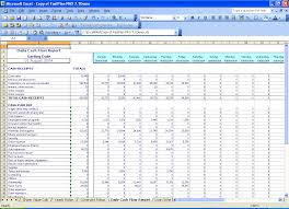 cash flow excel spreadsheet template