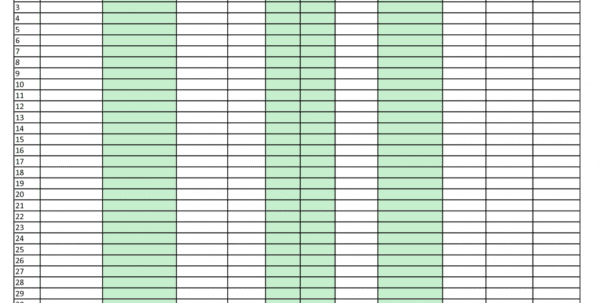 Inventory Control Template With Count Sheet