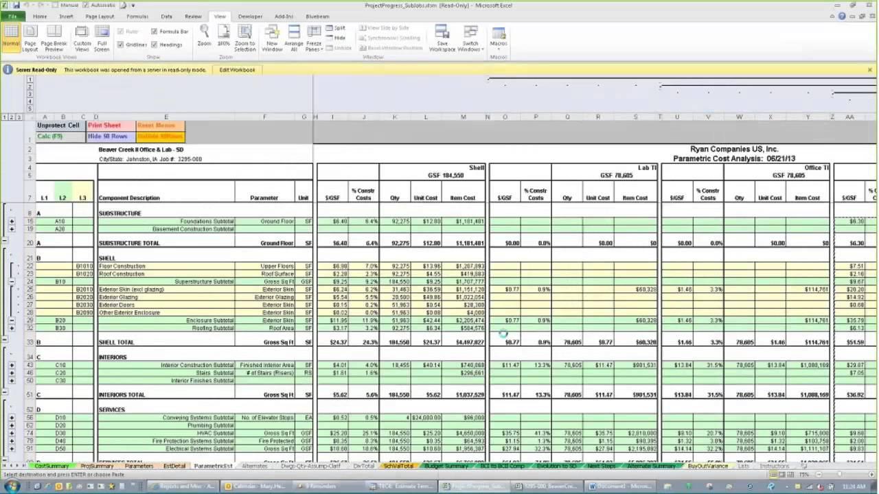 Estimate Spreadsheet Template Excelxo Com