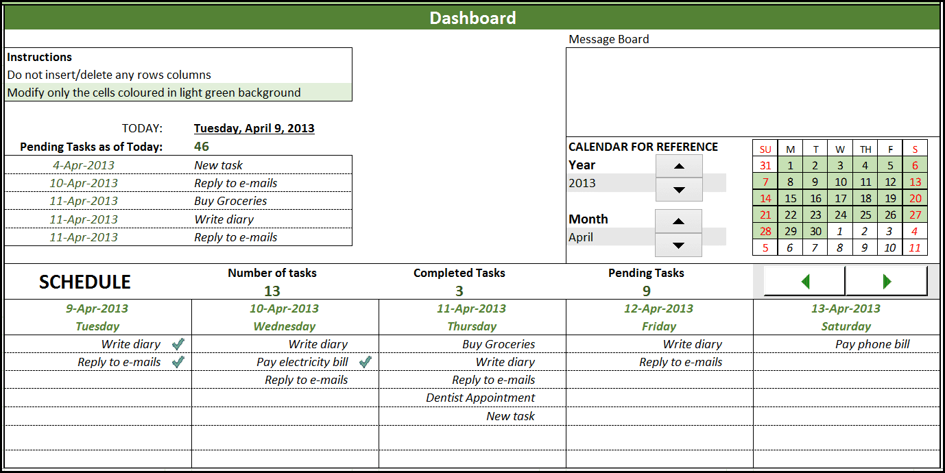 Microsoft Excel Project Management Templates Free Excel Spreadsheet ...