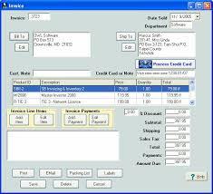 Microsoft Invoice Program