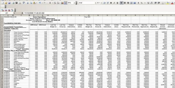 Monthly Expenses Template 1 Excel Spreadsheet Template For Expenses Expense Spreadsheet, Spreadsheet Templates for Business