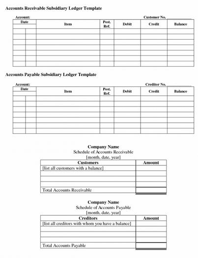 Party Ledger Format Excel