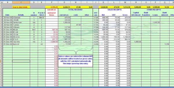 Payroll Spreadsheet Template 1