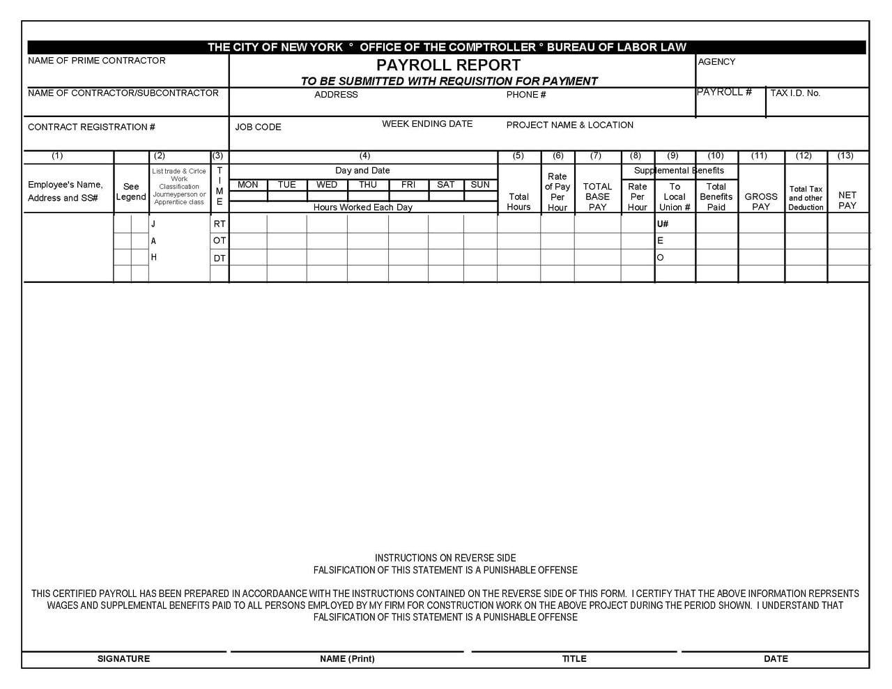 Payroll Spreadsheet Template Spreadsheet Templates for ...