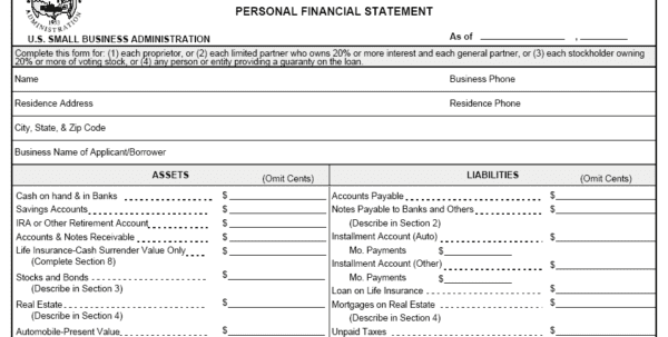 Free Blank Financial Statement Form Financial Statements Templates For Nonprofit Organizations Income Statement Templates Financial Statements Templates For Excel Financial Statements Templates For Small Business Printable Financial Statement Form Balance Sheet Templates
