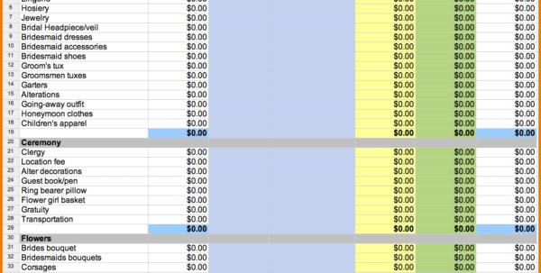 Printable Wedding Expense List Wedding Spreadsheet Templates Spreadsheet Templates for Business, Wedding Spreadsheet
