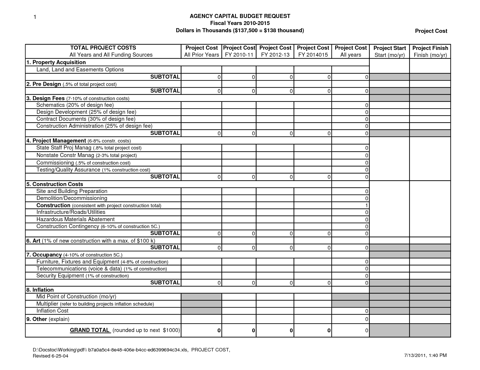 Project Timeline Excel Template Free