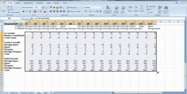 Excel Survey Results Template  BesikEightyCo