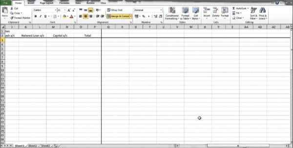 Simple Accounting Spreadsheet Template