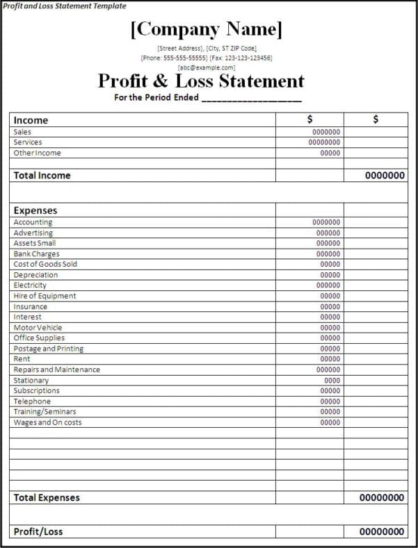 Simple Financial Statement Form Sample Personal Financial Statement