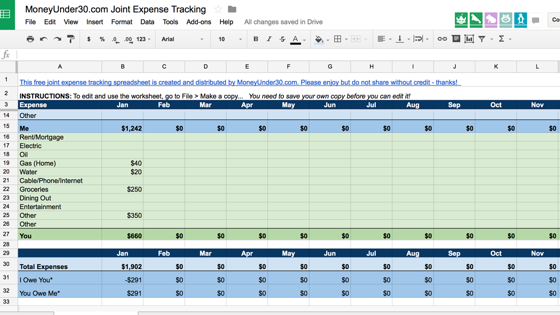 Simple Weekly Budget Template Expense Tracking Spreadsheet ...