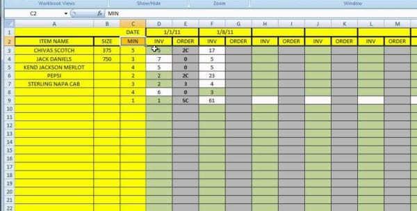 Stock Inventory Excel Template