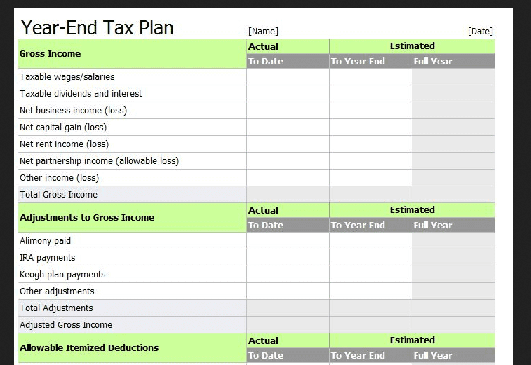 Tax Return Spreadsheet Template Uk