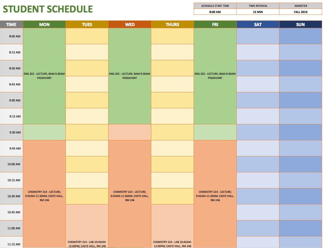 schedule spreadsheet template  u2014 excelxo com