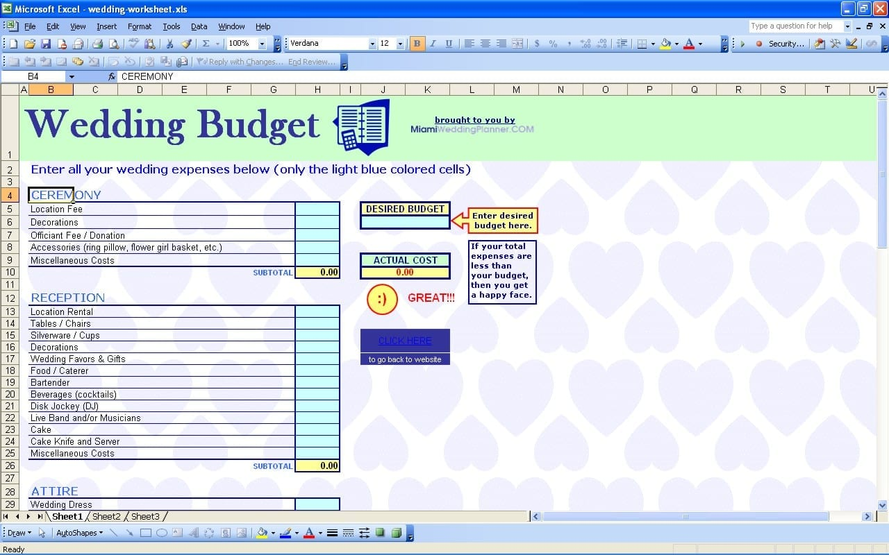 Wedding Budget Template Free Wedding Spreadsheet Template Spreadsheet Templates for Business Wedding Spreadshee Spreadsheet Templates for Business Wedding Spreadshee Wedding Budget Template Free
