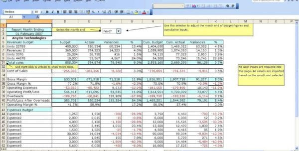 Accounting Spreadsheet Template Free