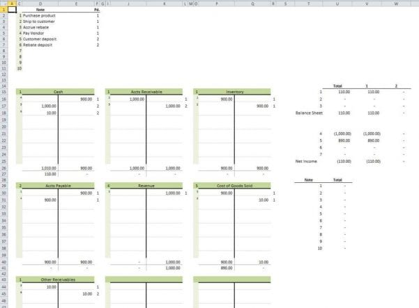 Accounting Template Excel