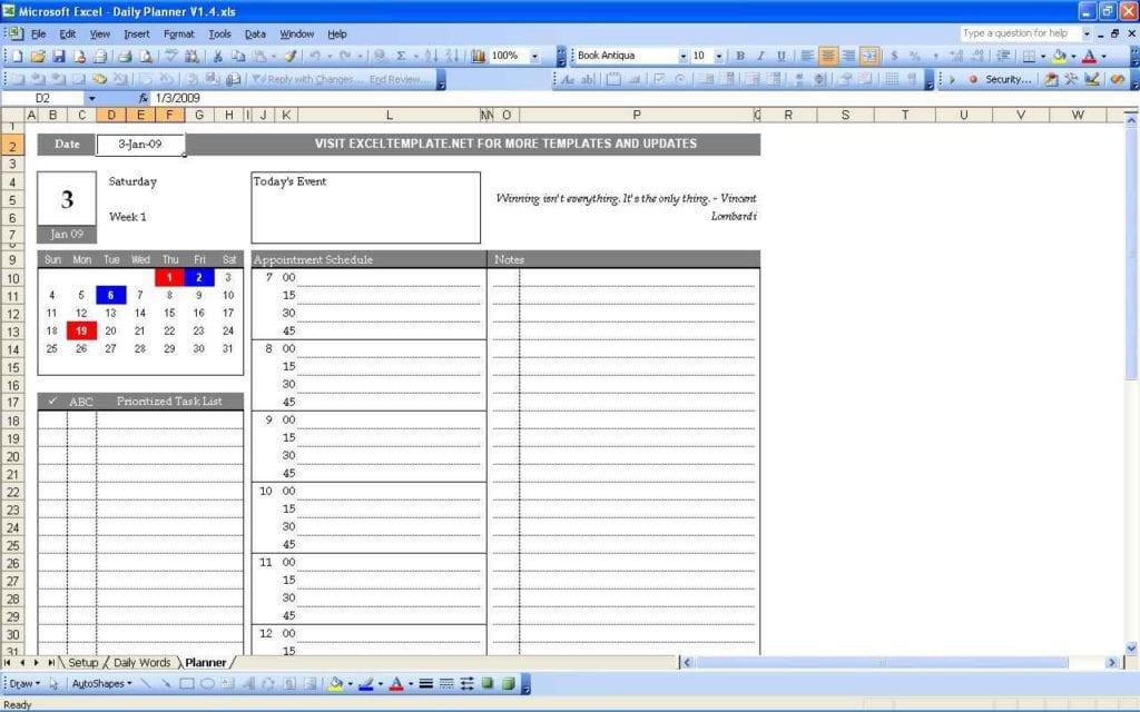 Audit Schedule Templatels 1