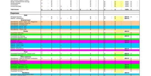 Best Personal Budget Spreadsheet
